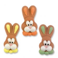 Flat Easter Bunny Heads